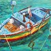 "Italian Work Boat - 18"" x 24"" - Oil  - sold"