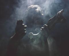 28/365 (robertcrispe) Tags: male glitter dark blood smoke sparkle bone backlit creep crispe