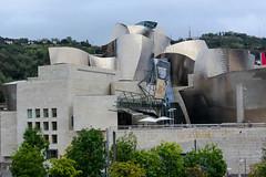 Guggenheim Museum (Jocey K) Tags: city sky signs architecture buildings spain bilbao guggenheimmuseum cosmostour6330