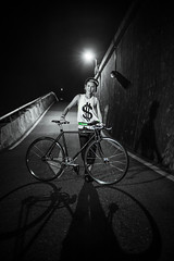 DSC_0433 (Ellen.B Chang ) Tags: light girl bike night nikon taiwan gear cycle fixed fixie taipei 20mm 18 fggt d700