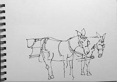 The carriage that got away (suhita1) Tags: sketch jackson wyoming jacksonhole watercolorsketch sktch suhita