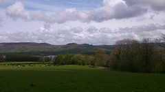 Tittesworth reservoir, with The Roaches beyond