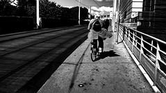 Rear6 (n.genez) Tags: street city people bike cellphone montpellier behind