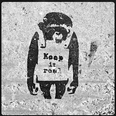 Keep it real (Leo Reynolds) Tags: graffiti stencil banksy 4s iphone 0sec hpexif iphoneography hipstamatic iphone4s xleol30x oggl grouphipstamatic stencilquebec groupiphone xxx2014xxx xxgeotaggedxx