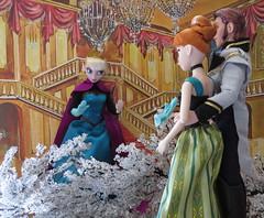 (47) Queen Elsa's Icy Secret Revealed (Foxy Belle) Tags: anna castle movie frozen doll princess hans prince disney queen story elsa diorama arendelle