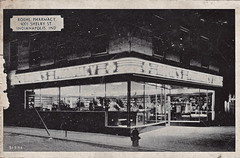 Roehl Pharmacy (Namey McNamerson) Tags: indianapolis postcard indiana pharmacy shelby drugstore roehl roehls