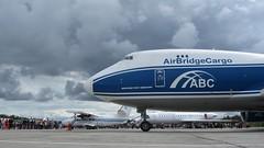 AirBridgeCargo Boeing 747-400ERF at Krasnoyarsk, Yemelyanovo Airport (Silent.91) Tags: plane canon airplane is airport day force aircraft aviation powershot airshow abc boeing 747 spotting jumbo freighter b747 avia  kja unkl   krasnoyarsk  b744 sx210  airbridgecargo b747f   747400erf  vpbim yemelyanovo