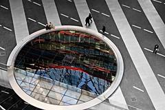 Pool / reflection (jo.misere) Tags: people bw reflection berlin water colors circle pond stripes sonycenter resting potsdam selective vijver cirkel zw strepen berlijn reflectie devided tamron1750mm28 gedeeld selectief 1403860