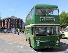 ECW bodied Bristol VR SDL638J at IOW Bus Museum Spring Running Day 17 May 2015 (IslandYorkie) Tags: buses isleofwight doubledecker ryde bristolvrt vintagebuses preservedbuses bristolbuses busrallies sdl638j restoredbuses isleofwightbusmuseum exsouthernvectis busesinthesouthofengland ecwbody busesontheisleofwight busrallies2015 isleofwightbusmuseumspringrunningday2015