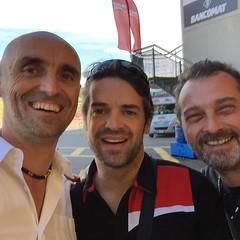 Con Carlos Checa.