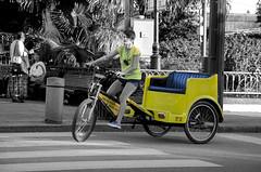 The Pedicabs of NOLA (Rajesh Vijayarajan Photography) Tags: rajeshvj rajeshvijayarajanphotography rajeshvijayarajan rajeshonflickr nola neworleans louisiana la pedicabs selectivecoloring greentransport usa urban nikond7000
