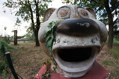 Ahooh (MrStein77(Roby)) Tags: mrstein77 canon eos 70d limbiate greenland parco giochi abbandonato park abandoned tigre tiger recycled bin cestino bocca mouth animal animale