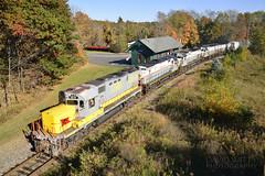 97 At Cresco (DJ Witty) Tags: c636 m636 c420 montreallocomotiveworks mlw century alco freight locomotive train railroad