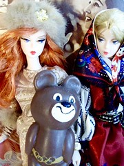 Say hi to Mishka! (Silky collector) Tags: bfmc barbie mattel silkstone 2011 olympicgames 1980 olympics1980 moscow