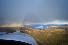 Munro bagging in the Eurostar.....I think, technically, that's cheating! Loch Tay to the east on the nose. October 2016. (Jen_wilsonphotography) Tags: microlight ev97eurostar autumn scotland nikon arielphotography aviation mountains loch lochtay