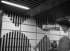 Tottenham Court Road Station (oh it's amanda) Tags: fujiga645i ga645i ilfordxp2 blackandwhite blackwhite bw c41bw london londonengland uk thetube tube underground