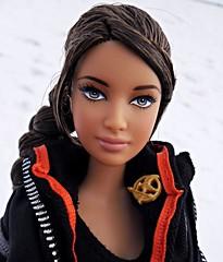 Katniss from The Hunger Games (Dollytopia) Tags: katniss hunger games jennifer lawrence doll winter movie barbie lara croft tomb raider snow mattel