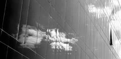 Wolkenstreifen (andreas_inkoeln) Tags: huserfront saragossa bw sw wolken reflexion spiegelungen