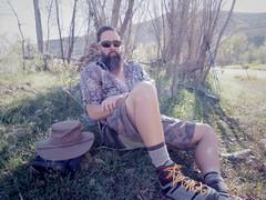 chad at river, 10-17-16 (EllenJo) Tags: pentaxqs1 october17 2016 ellenjo ellenjoroberts pentax chad lowertapco