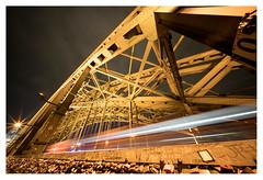 Trains that pass in the night (leo.roos) Tags: nachtopname nightshot longexposure bridge brug hohenzollerbrücke train trein railway spoor cologne keulen september2016 a7rii voigtlanderheliarhyperwide10mmf56e darosa leoroos