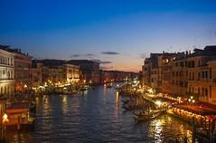 Venice (Andrei Dragomir) Tags: venice italy veneto grand canal sunset sea gondola rialto