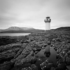 Rhue Lighthouse (Mark Rowell) Tags: ullapool rhuelighthouse scotland highlands hasselblad swc 903 fuji acros 6x6 120 mediumformat bw landscape longexposure film