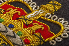 Macro Mondays  Stitch (Kev Gregory (General)) Tags: macromondays stitch queen crown cloth badge royal air force raf station unit crest squadron kev gregory canon 7d macro 100 100mm f28 mondays usm ef challenge theme thread fine detail typically worn flying suit could depict individual association particular 38mm across whole embroidered would measure approximately 80mm wide tall happy monday everyone helicon focus stack stacked