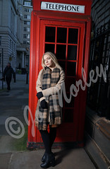 Waiting by the Telephone Box (Jo_Morley) Tags: girl england phone box pretty telephone blonde british model woman photography watermark photoshop sony outside liverpool pose posing united kingdom flash portrait britain outdoor exposure environment contrast fashion bright light lights night day manual telephonebox