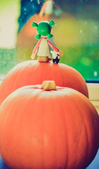 We got some pumpkins (Iggy Summers) Tags: yotsuba iwako erasers pumpkin october autumn