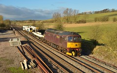 33029. Crofton. 09-01-2014 (*Steve King*) Tags: 33029on6z47crofton class 33 crompton west coast railways crane