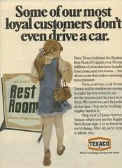 Registered Rest Rooms : Texaco (OldAdMan) Tags: oldadman advertisements advertising vintage paper texaco servicestations restrooms registered youngsters