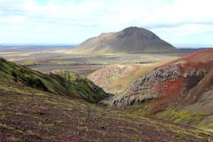Hafrafell (Freyja H.) Tags: iceland southerniceland hafrafell raualda scoria rock lava moss gorge mountainside mountainridge landscape nature outdoor hike