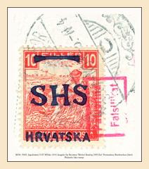"""MiNr. 0062  Jugoslawien 5197 MFake 1916 Ausgabe fr Kroatien """"Michel Katalog 1900 Eur"""" Freimarken Briefmarken falsch Philatelic fake stamp (Morton1905) Tags: minr 0062 jugoslawien 5197 mfake 1916 ausgabe fr kroatien michelkatalog1900eur freimarken briefmarken falsch philatelic fake stamp"""