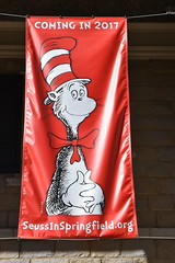 Coming in 2017 The Cat in the Hat SeussInSpringfield.org banner at The Dr. Seuss National Memorial Sculpture Garden at the Quadrangle in Springfield, Massachusetts USA (RYANISLAND) Tags: massachusetts ma mas mass springfield springfieldma springfieldmassachusetts newengland drseuss howthegrinchstolechristmas thegrinch grinch catinthehat springfieldmass commonwealthofmassachusetts commonwealthmassachusetts commonwealth massachusettsan baystater massachusite massachusettsbaycolony visitnewengland us usa springfieldcity hampdencounty thecommonwealthofmassachusettsstate newenglandregion theunitedstatesofamerica northamerica autumn fall fallfoliage foliage leaves outdoors