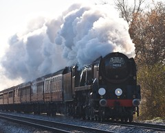 Blackwater 29 November 2016 033 (paul_appleyard) Tags: frosty morning 34052 lord dowding steam dreams cathedrals express blackwater hampshire november 2016 full ahead locomotive