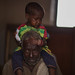 Husein Muse, 61 a father of 3 children brought his 4 years old sick daughter Idil Husein to Barisle Health Post for screening and to get a ration card.