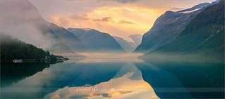 Sunrise at Lovatnet - Norway