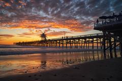 California Sunset (Bryan the Roving Vagabond) Tags: sanclemente cal california socal ca sea seaside pier water sand beach cloud clouds sunset pacific ocean outdoor landscape seascape explore