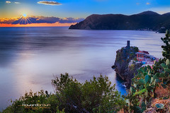 Sunset.. (Howard Brown Photographic) Tags: sunset cloudsstormssunsetssunrises mountain mountains sea ocean ligurian vernazza cinque terre cinqueterre parco nazionale delle national park italy italian italia hdr