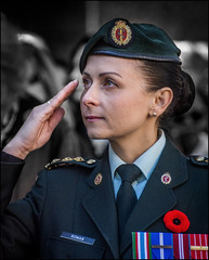 Royal Canadian Medical Service Salute (Rodrick Dale) Tags: queens own rifles canada remembrance soldier portrait salute toronto ontario st pauls november poppy
