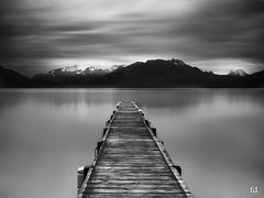 Bad weather (flo73400) Tags: le longexposure poselongue bw ponton pontoon landscape lac lacdannecy france