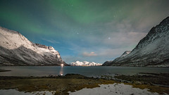 Norway (Mr F1) Tags: northern norway snow auroraborealis fjord light green night sky colour beauty stars moonlight moonlit johnfanning