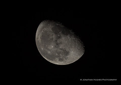 74% Waning Gibbous (Nimbus20) Tags: moon lunar satellite rock orbit night sky clear gibbous waning 74 craters shadows stars sussex