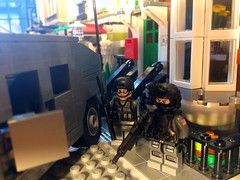 Operation honey badger- phase 1- scout team rally point alpha (jonahfox1) Tags: mission brickarms minifig minifigure moc humvee military lego spec ops special forces