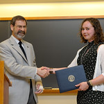 Associate Professor Robert Wickesberg; Kristen Sanders: Distinction in Psychology