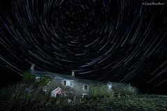 Dark Night - Star Trail, Embleton, Northumberland (Gary Woodburn) Tags: star trail embleton northumberland derelict building ruin ruins cottage canon 6d samyang 14mm