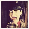 The THREE STOOGES Moe Howard Dummy Doll at Ken Olden Oddities in La Verne, California