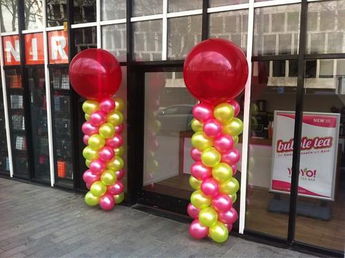 Ballonpilaar Breed Rond Opening YoYo Fresh Rotterdam