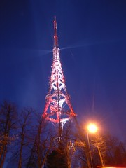 Dry Run for the 18th 21:15 - Digital Switchover Show @ Crystal Palace (aburt) Tags: show uk light red sky white london yellow night digital tv twilight media display crystal dry run palace event analogue crystalpalace transmitter switchover arqiva switchovernight