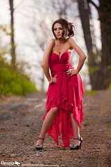 The Flamingo (LexiStyles) Tags: pink fashion flow model glamour dress prom fancy styles lexi layered flowy lexistyles